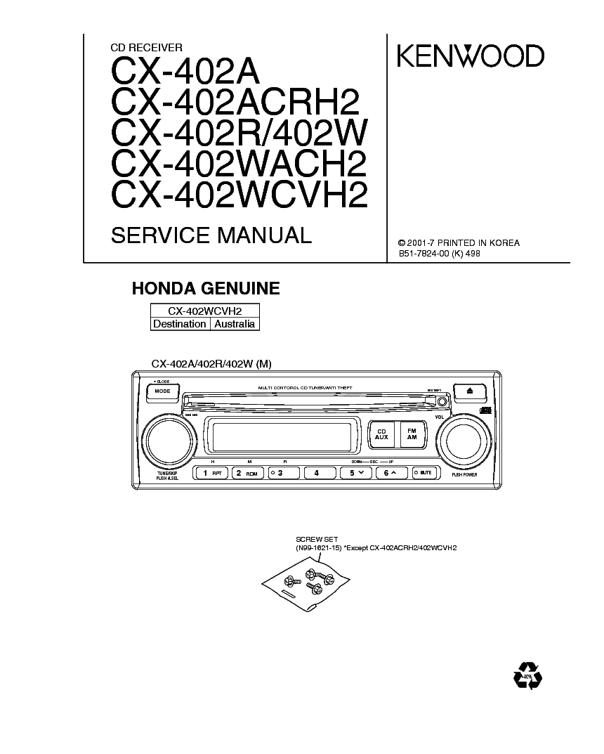 KENWOOD KA-1100SD SM Service Manual free download