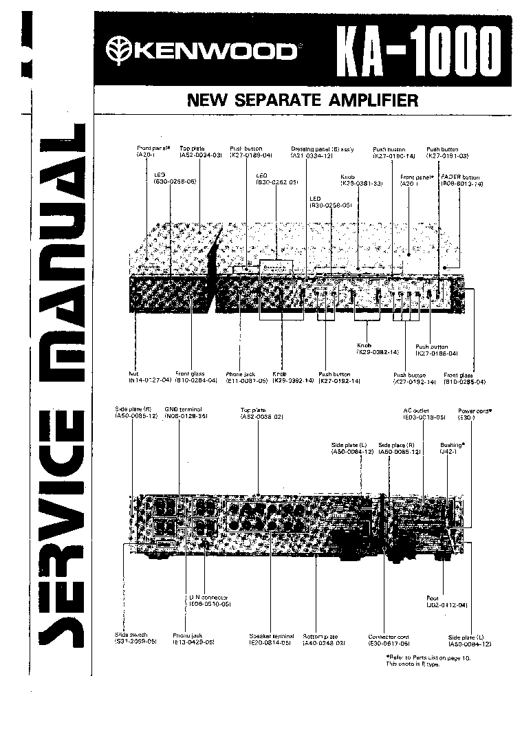 KENWOOD KA-1000 Service Manual download, schematics