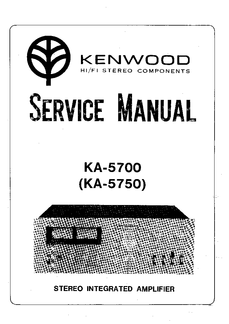 KENWOOD S-F701 Service Manual download, schematics, eeprom