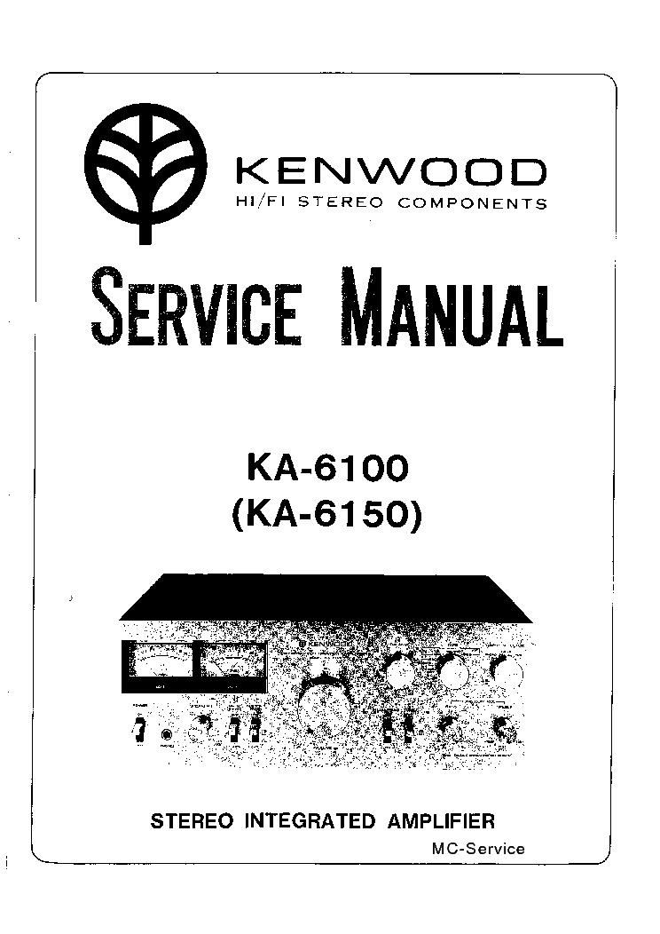 KENWOOD KA-6100 SM Service Manual download, schematics