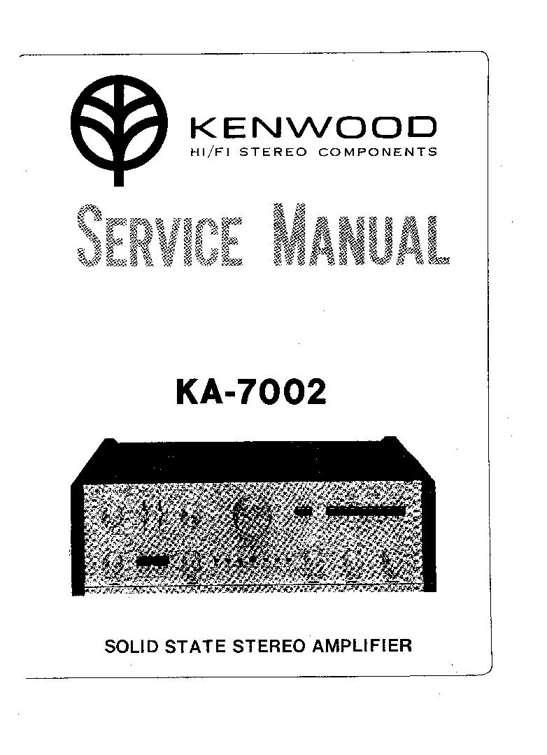 KENWOOD K KA1030 Service Manual download, schematics