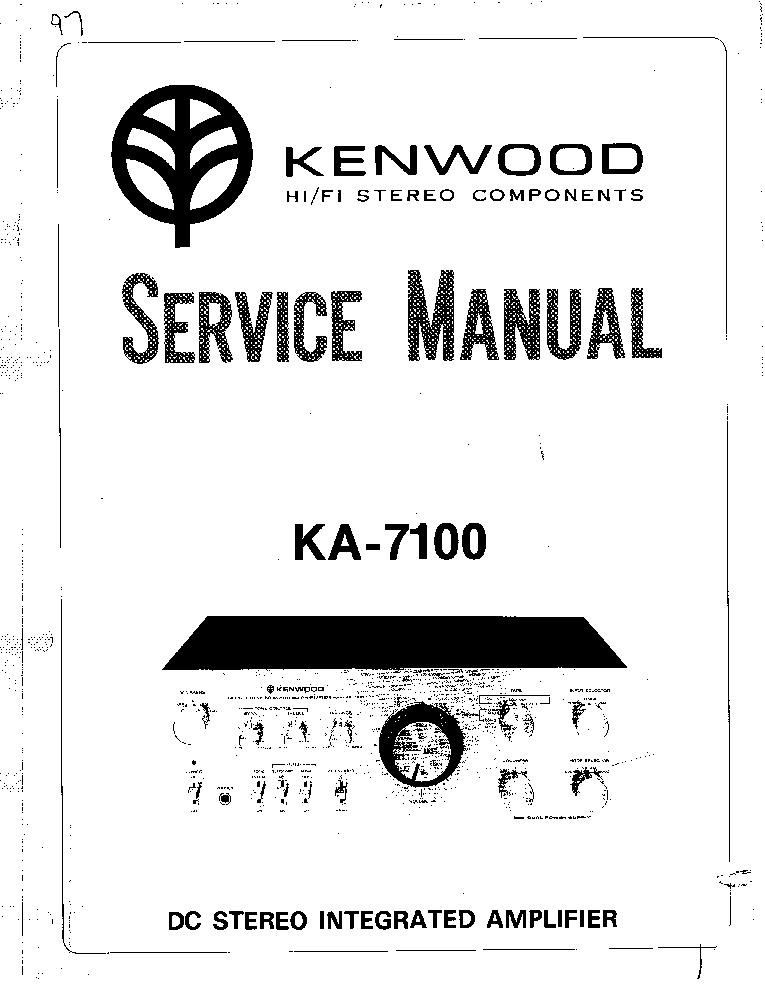 KENWOOD KA-7100 SERVICE Service Manual download