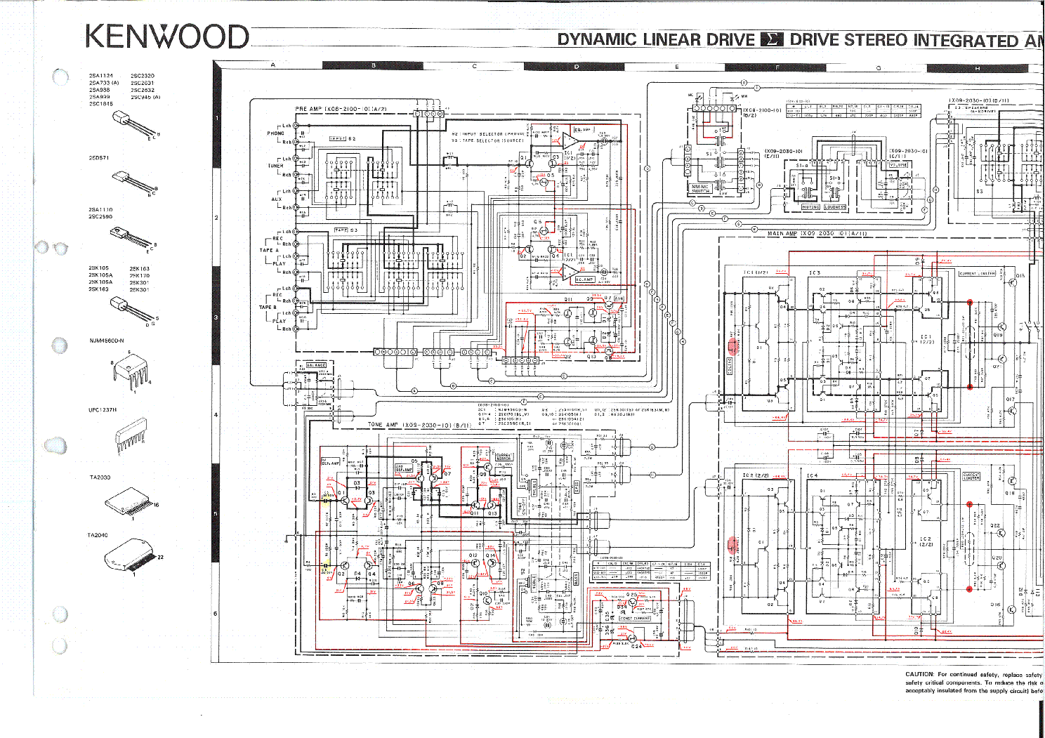 KENWOOD KA-770 SCH Service Manual download, schematics