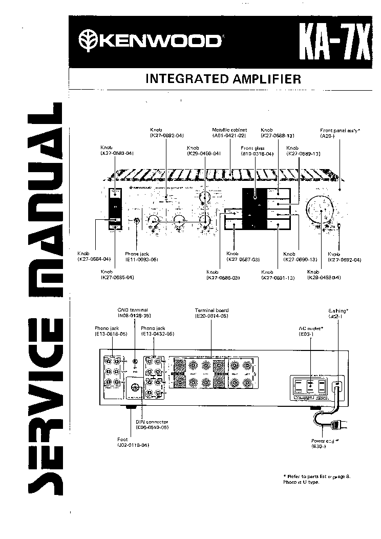 KENWOOD KR-710 SM Service Manual free download, schematics