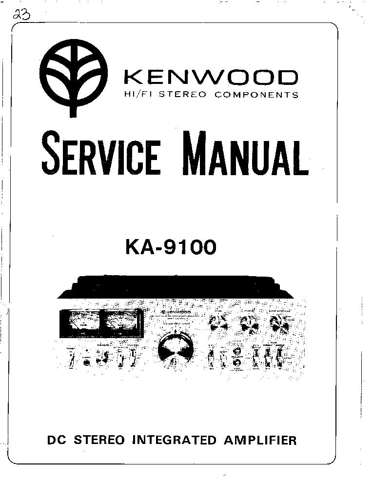 KENWOOD KA-9100 Service Manual download, schematics
