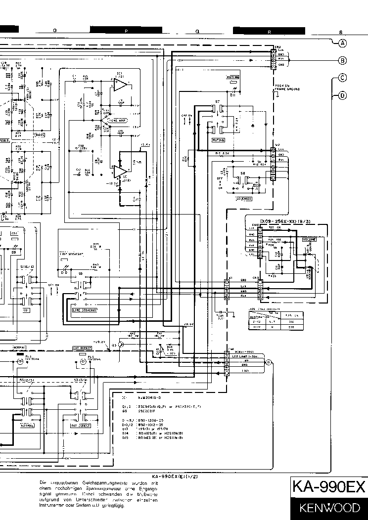 KENWOOD KA-990EX SCH Service Manual download, schematics