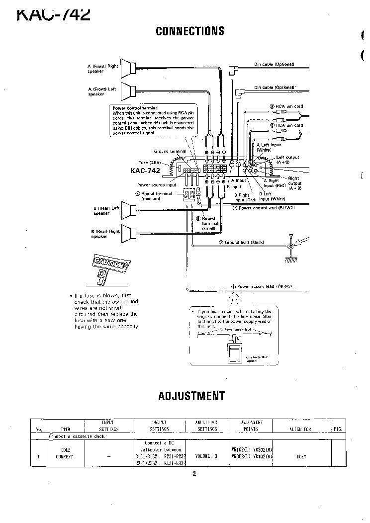 KENWOOD KAC-742 Service Manual download, schematics