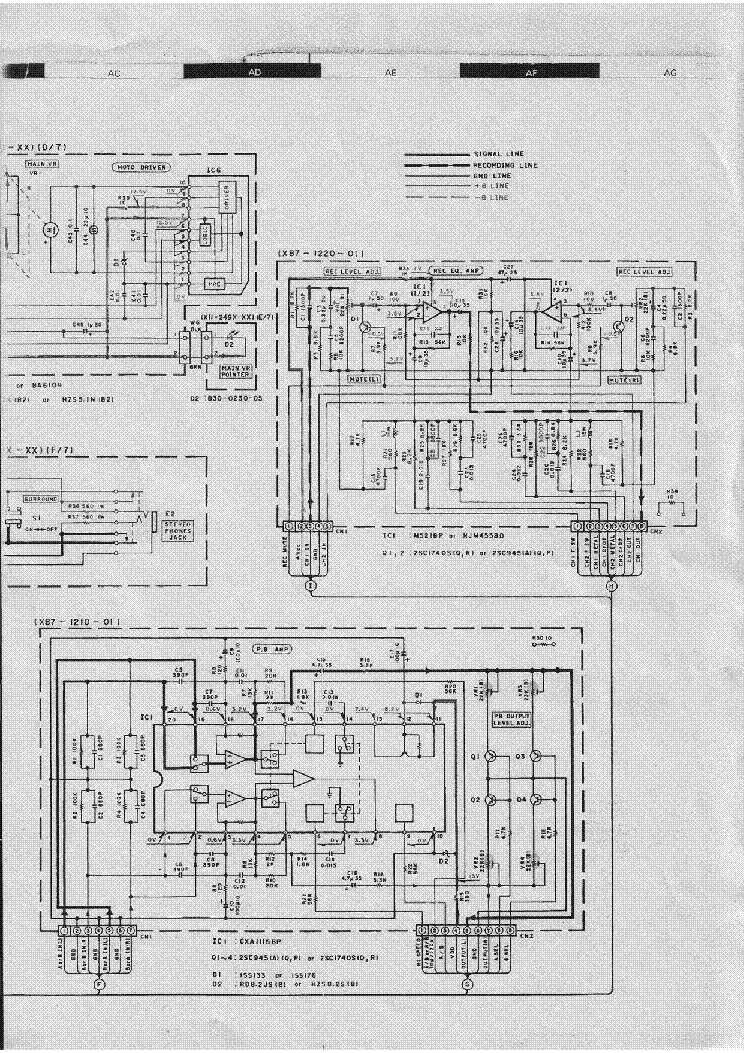 KENWOOD KAX-48 SCH Service Manual download, schematics