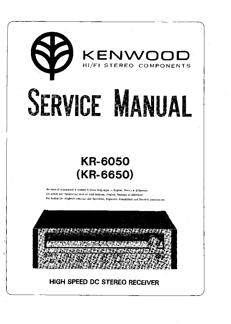 KENWOOD KR-6050 6650 Service Manual download, schematics