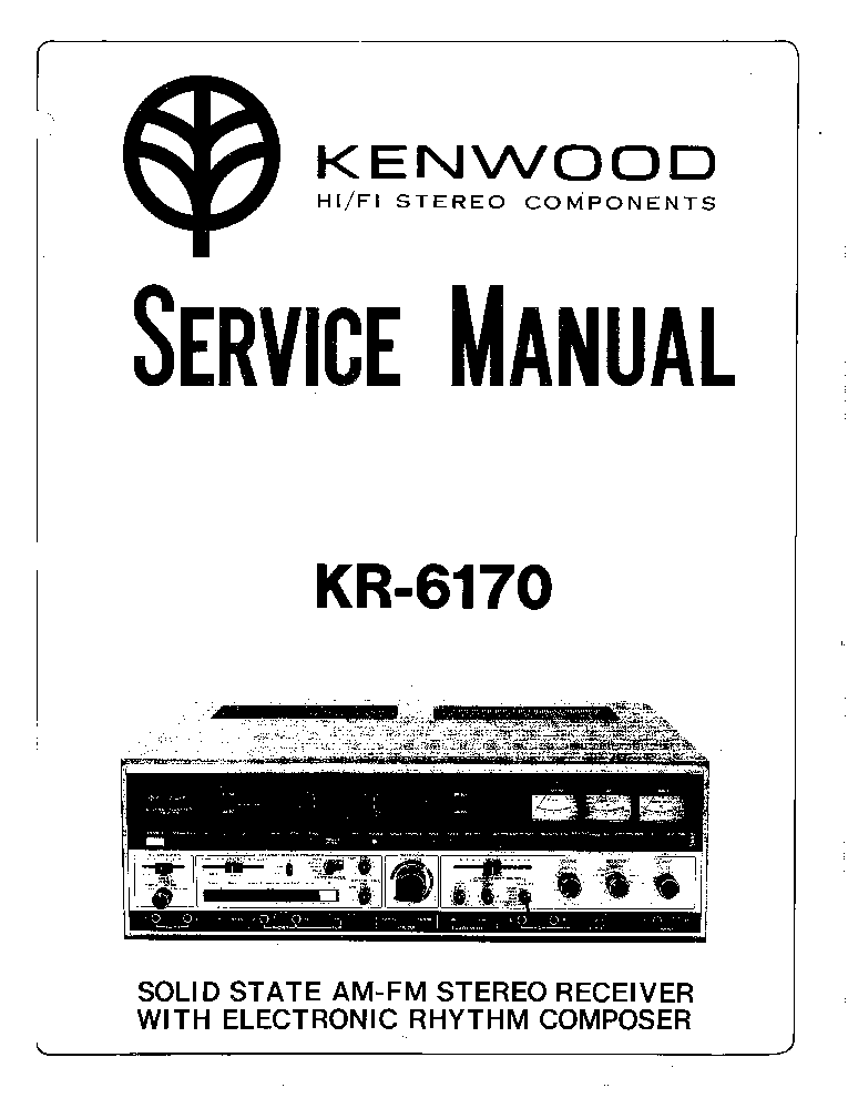 KENWOOD KR-6170 Service Manual download, schematics