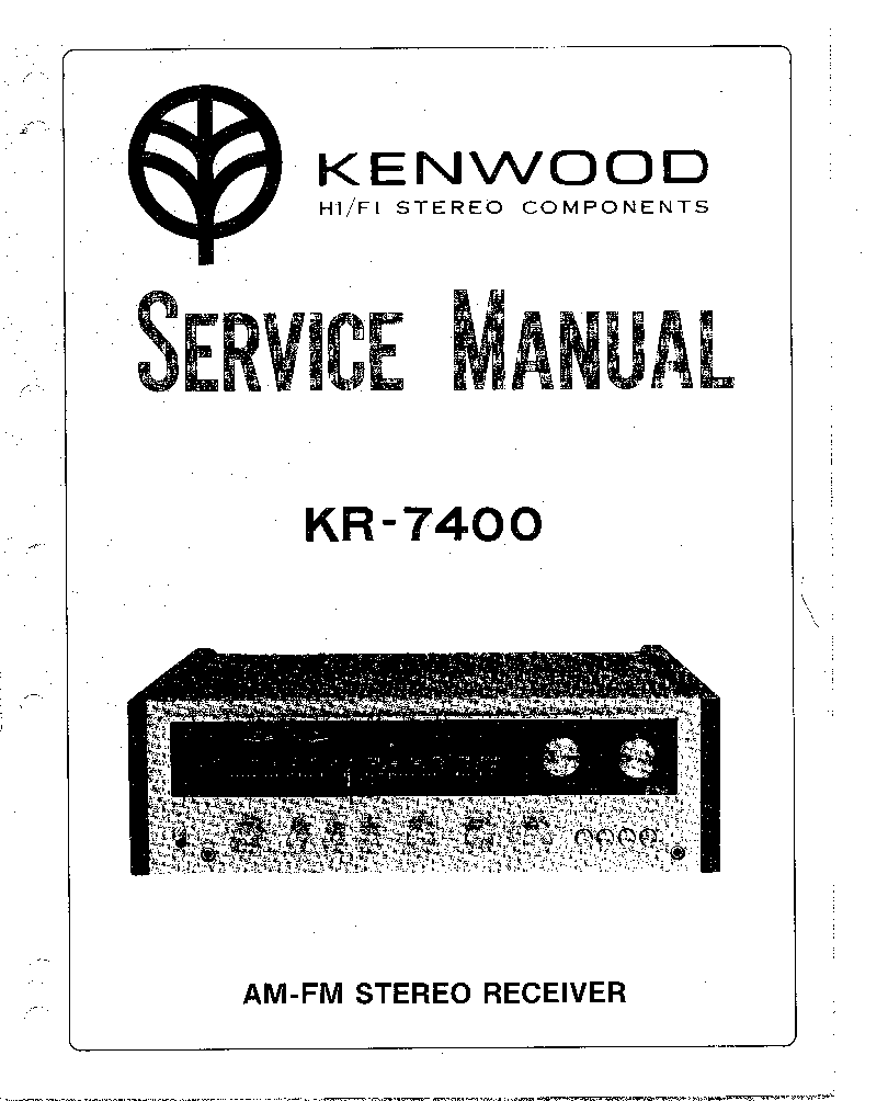 KENWOOD KR-7400 SM Service Manual download, schematics