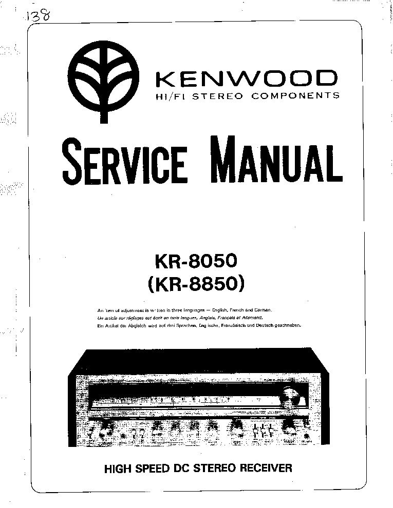 KENWOOD DP-1100SG Service Manual free download, schematics