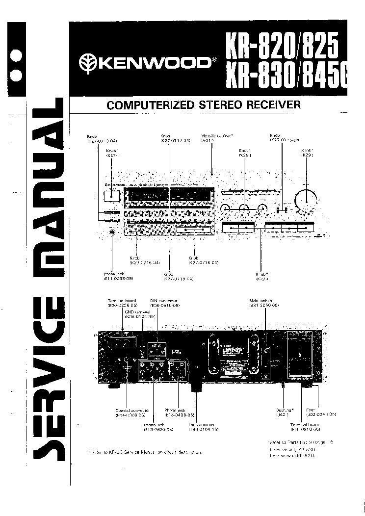 KENWOOD DP-7060 SM Service Manual download, schematics