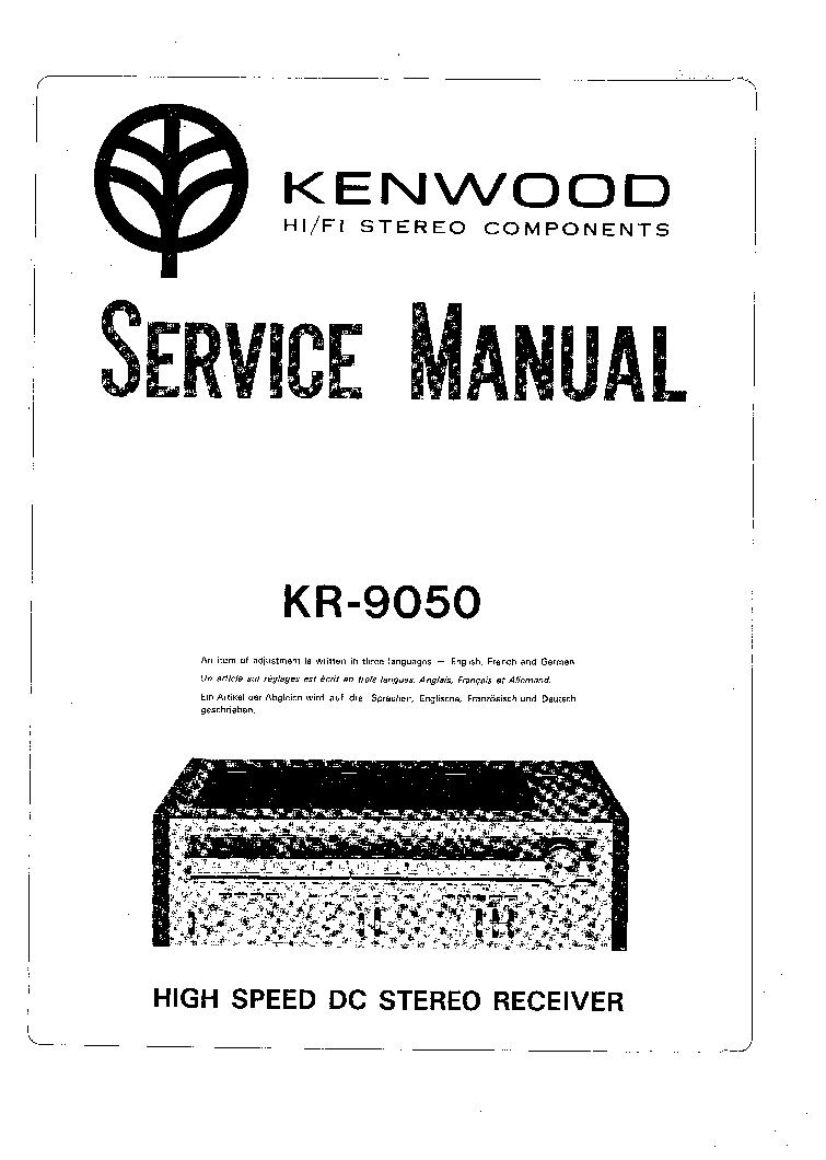 KENWOOD KR-9050 Service Manual download, schematics