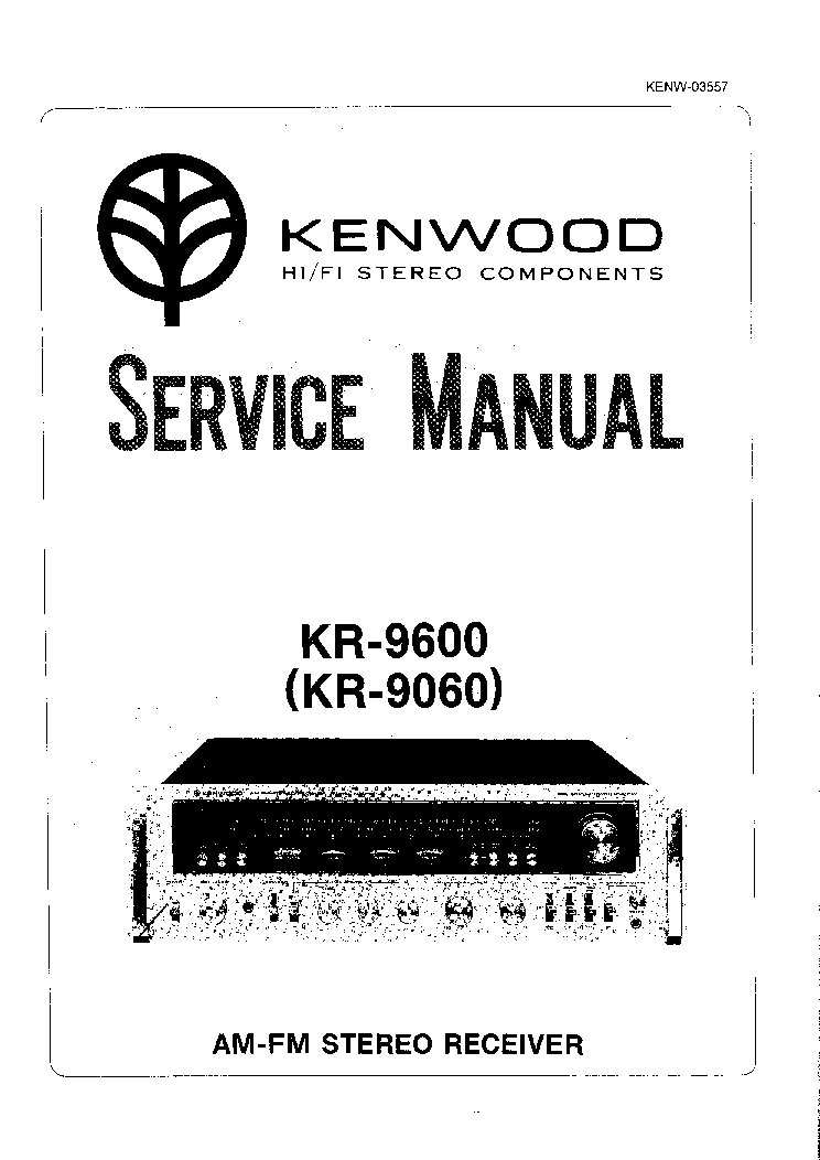 KENWOOD KR-9600 9060 Service Manual download, schematics