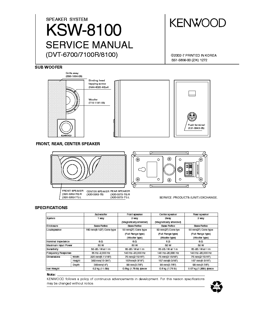 KENWOOD KT-3300D SCH Service Manual free download