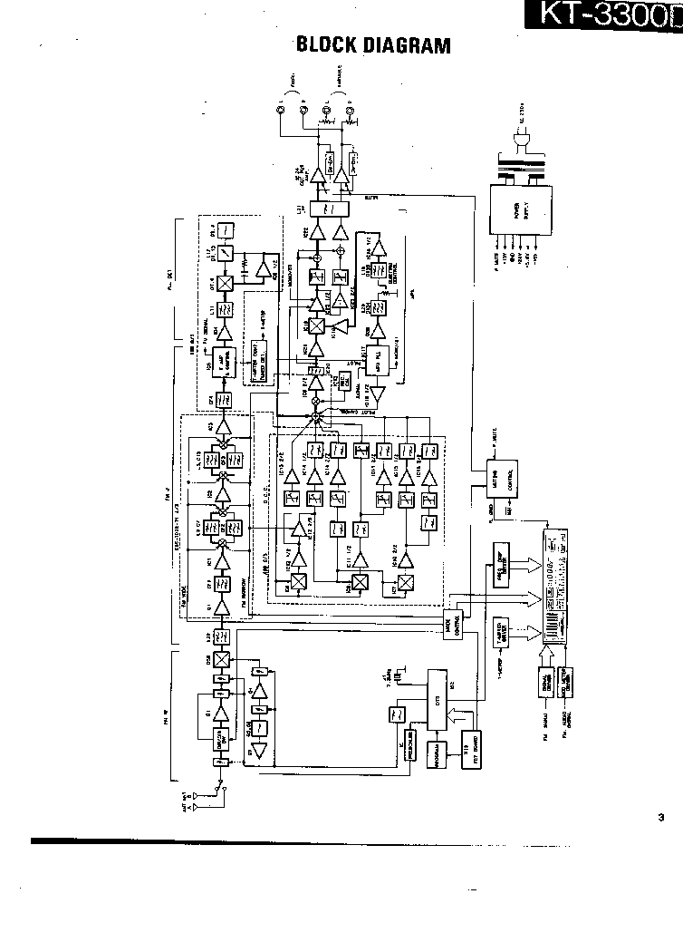KENWOOD KT-3300D SCH Service Manual download, schematics