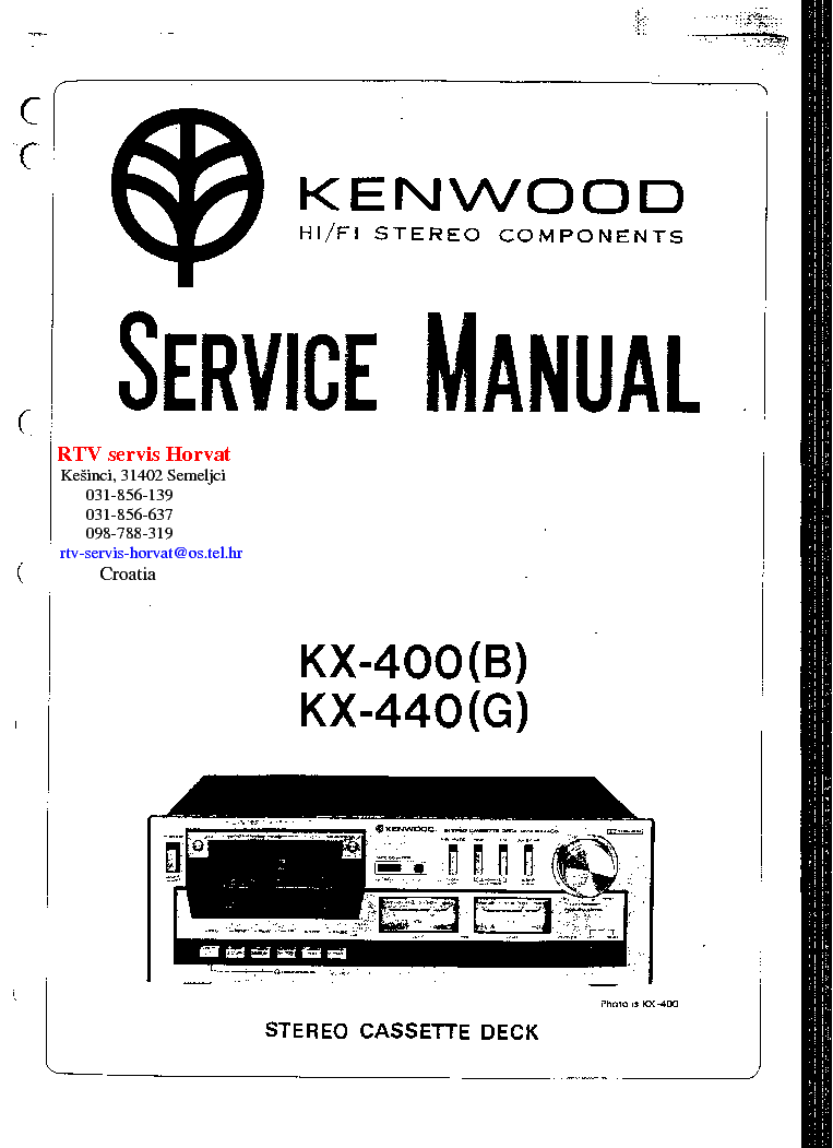 KENWOOD KX-400 440 B G SM Service Manual download