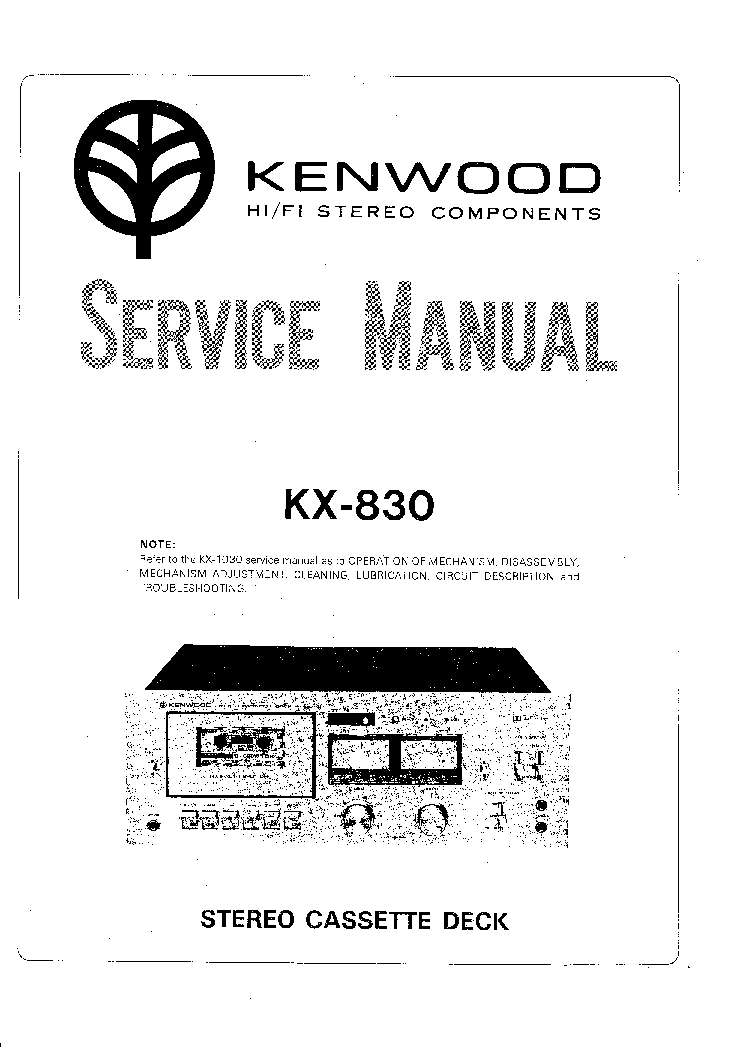 KENWOOD KR-4200 SCH Service Manual download, schematics