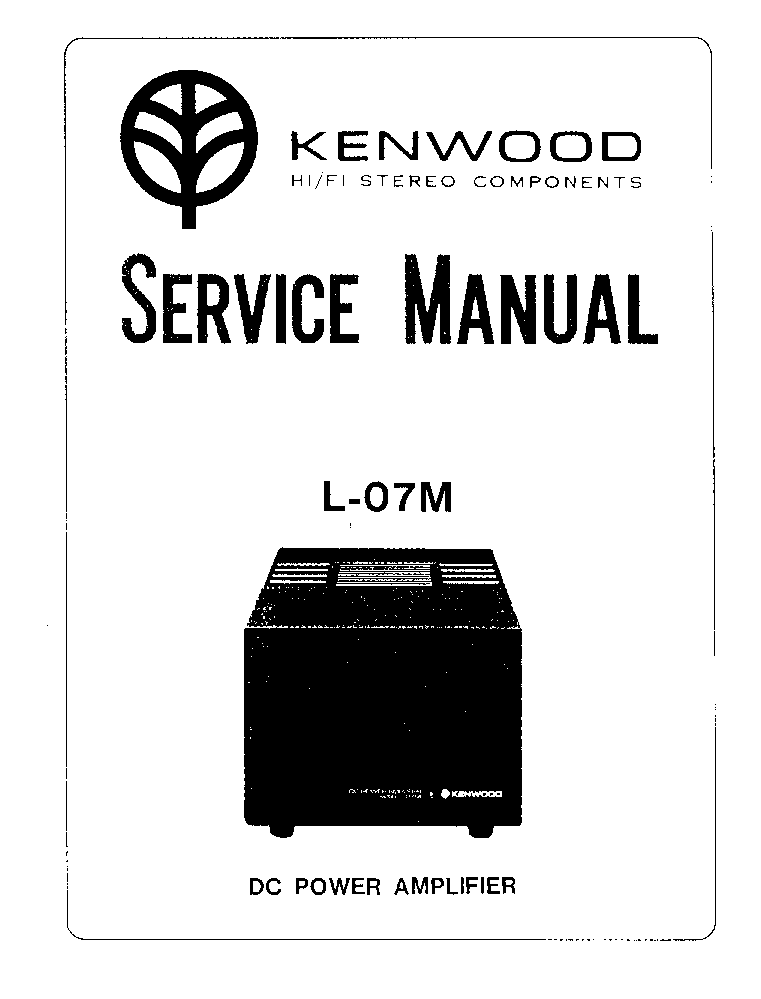 KENWOOD L-07M SM Service Manual download, schematics