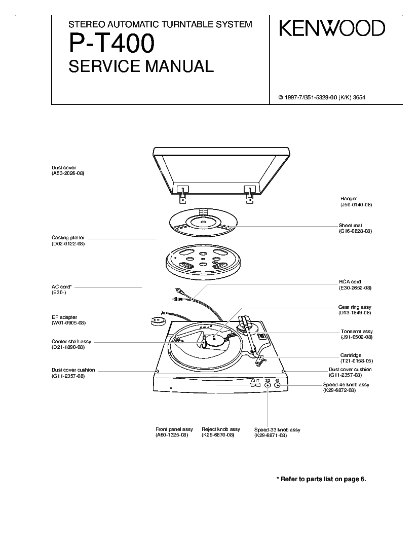 KENWOOD KR-A5020 SM Service Manual download, schematics
