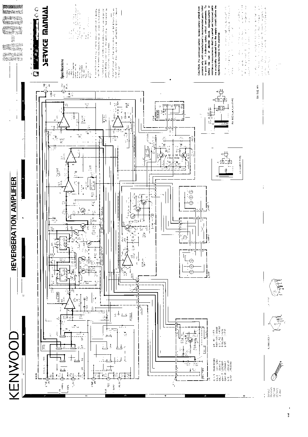 KENWOOD KR-710 SM Service Manual download, schematics