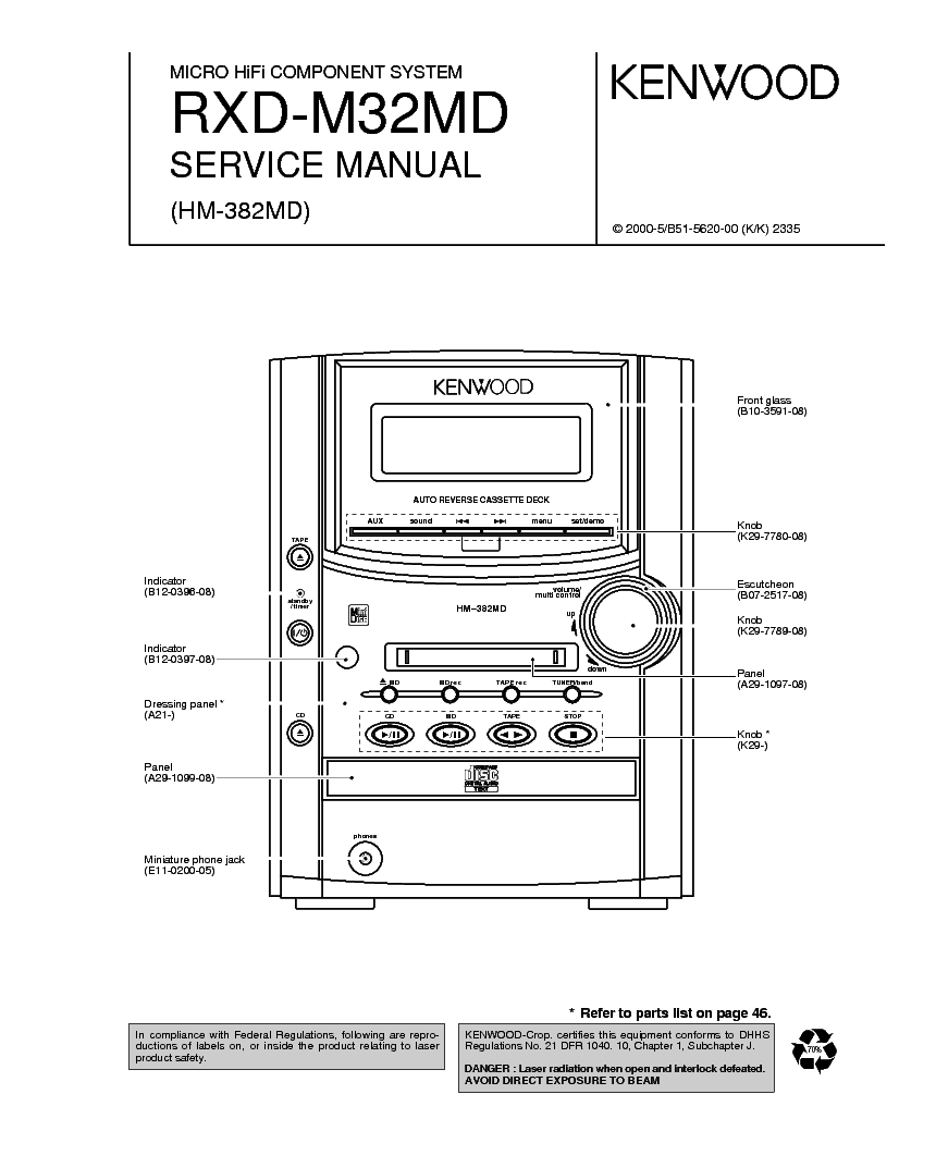 KENWOOD DPC-781 782 981 SM Service Manual free download