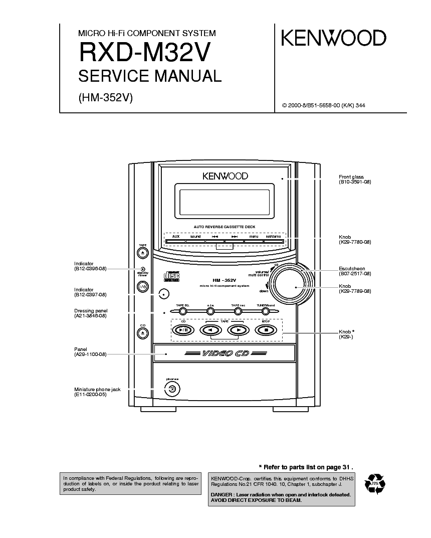 KENWOOD KT-48 Service Manual download, schematics, eeprom