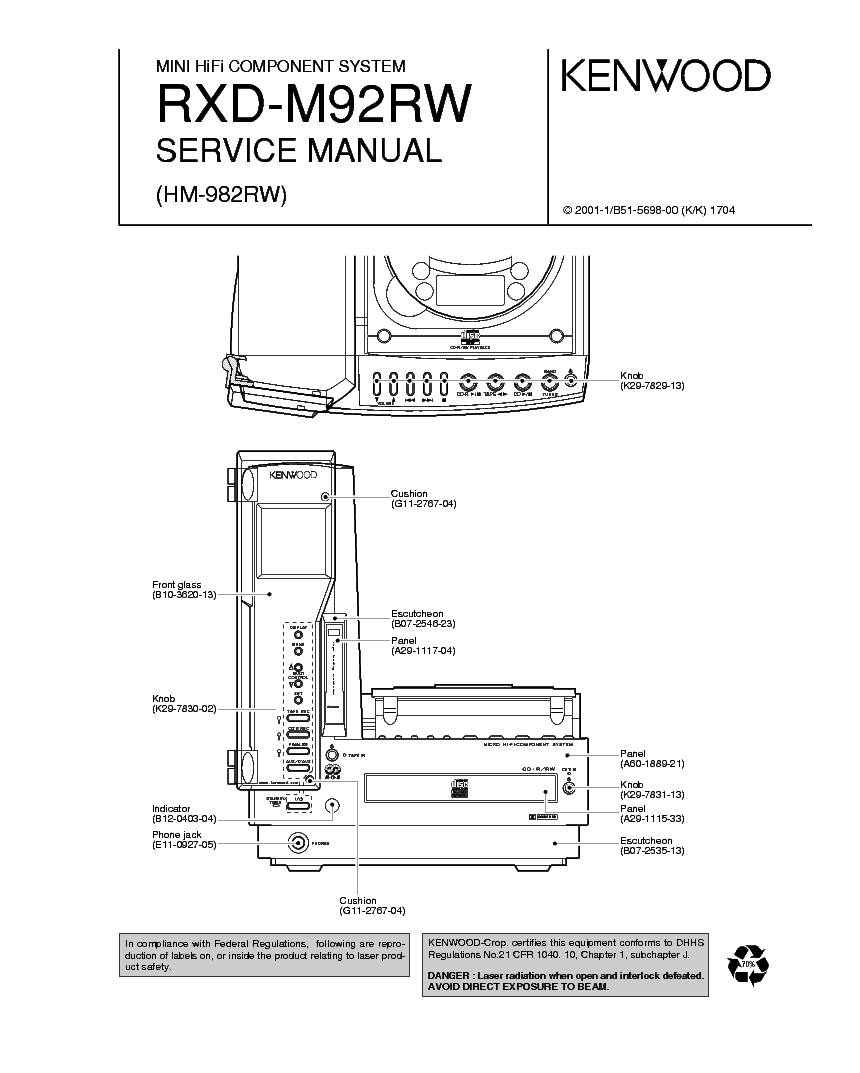 KENWOOD AR-304,-KRF-A4020,-A4020E,-A4020W Service Manual