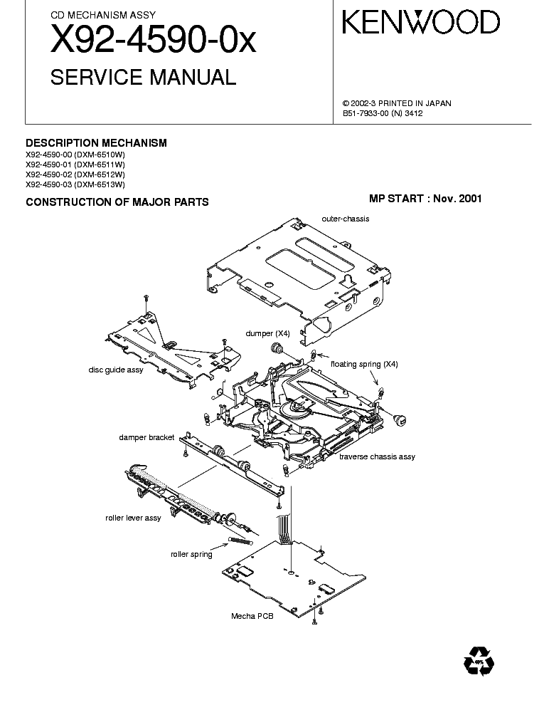 KENWOOD SW-301 103SW SW-501 1050SW SM Service Manual