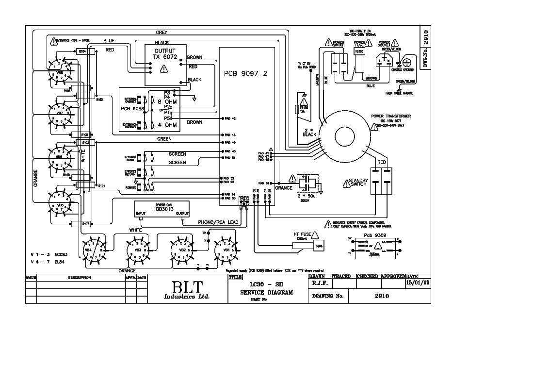 LANEY LC30 Service Manual download, schematics, eeprom