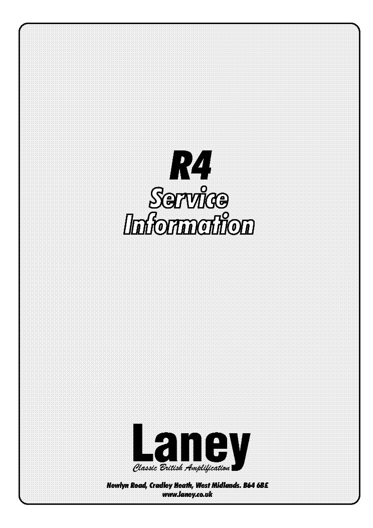 LANEY R4 Service Manual download, schematics, eeprom