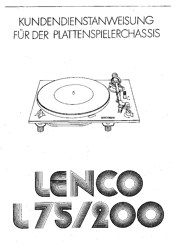 LENCO L75 Service Manual download, schematics, eeprom