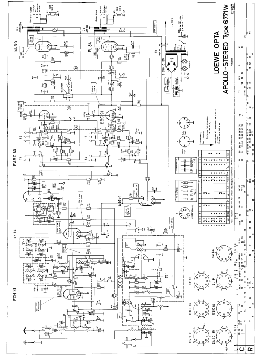 small resolution of loewe opta apollo stereo 6771w 2xel84 am fm radio sch service manual