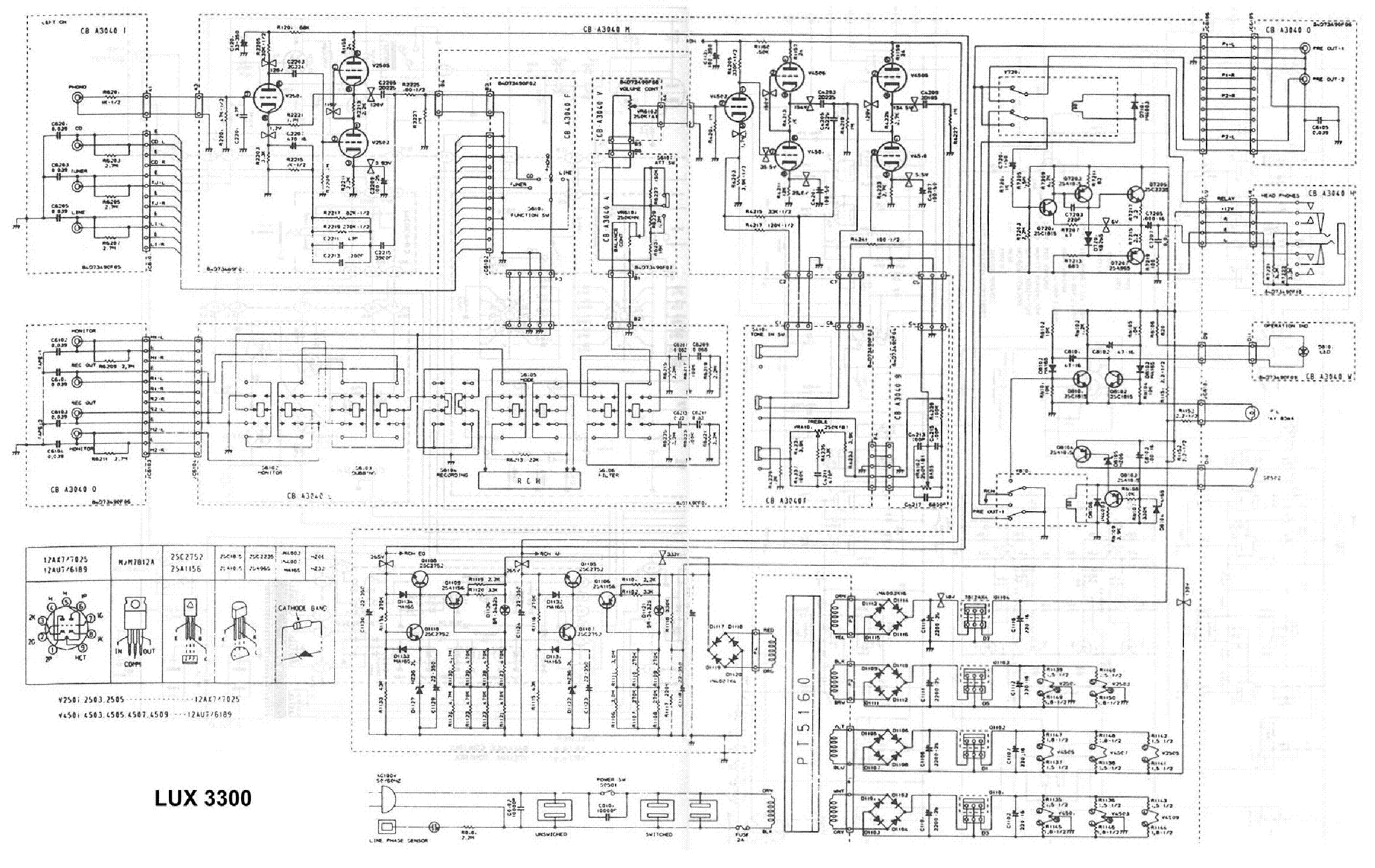 LUXMAN 3300 PREAMPLIFIER SCH Service Manual download