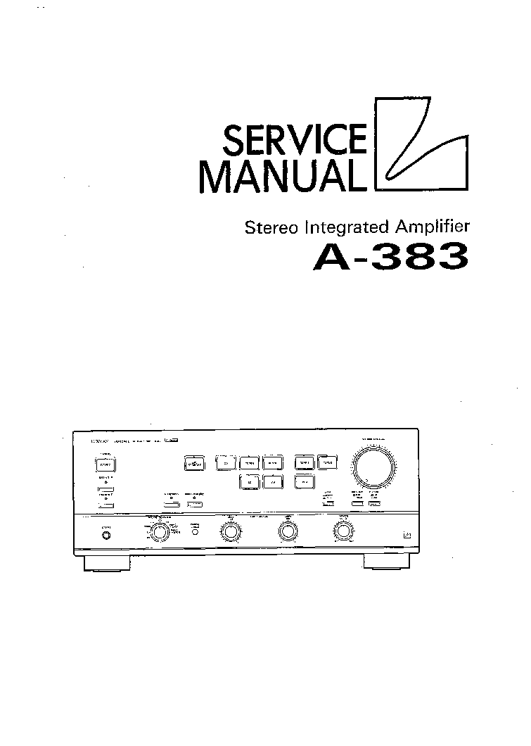 LUXMAN A-383 Service Manual download, schematics, eeprom
