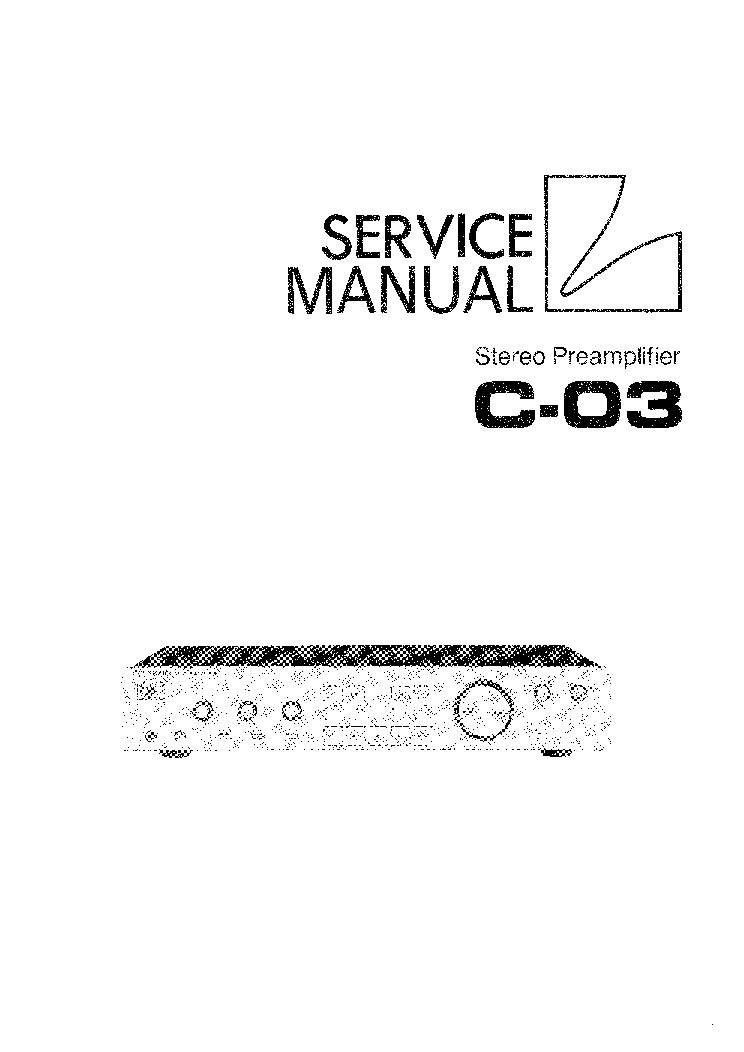 LUXMAN C03-STEREO-PREAMPLIFIER Service Manual download