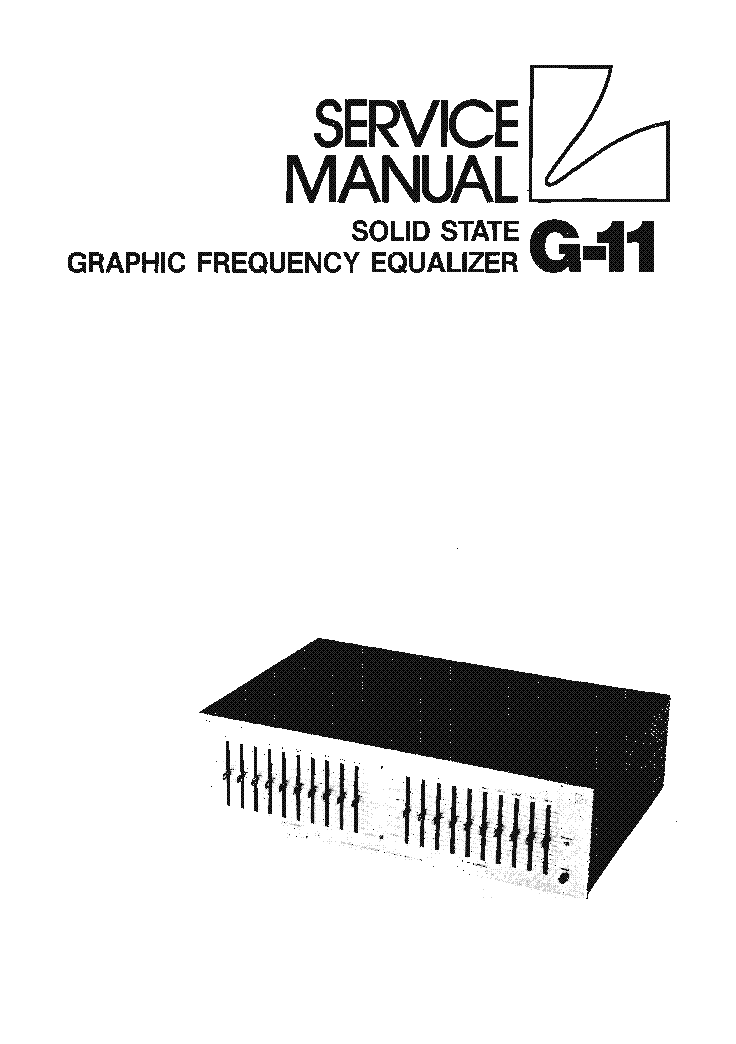 LUXMAN G-11 EQUALIZER SM Service Manual download