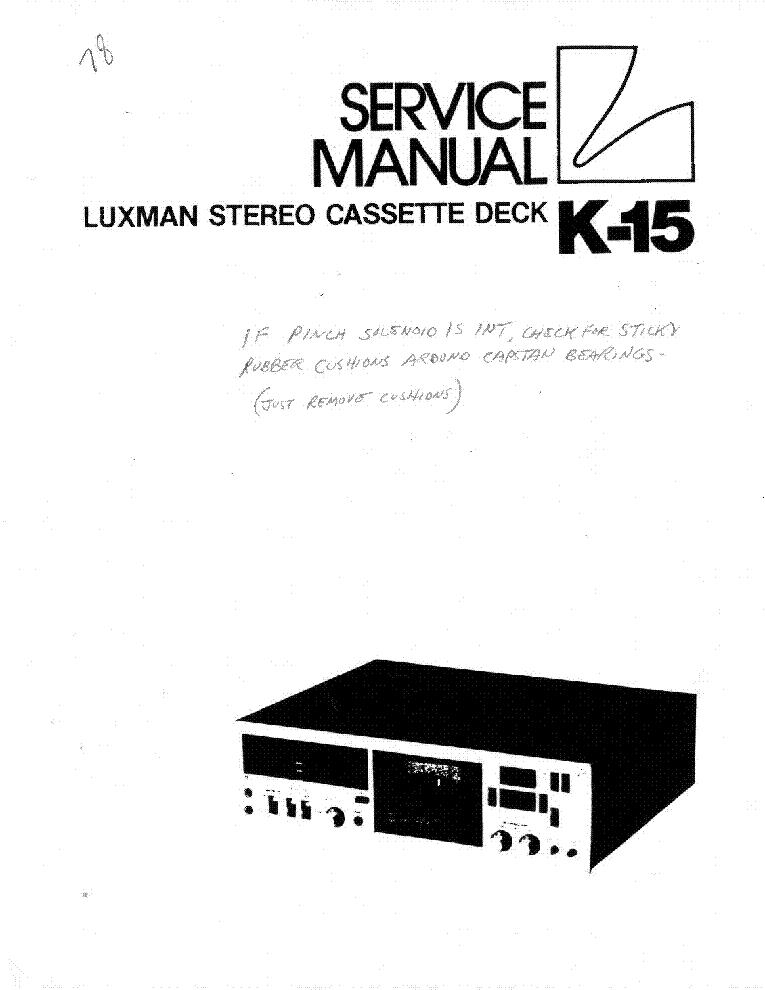 LUXMAN MB-88 2XKT88 AUDIO PA SCH.PDF Service Manual download, schematics, eeprom, repair info
