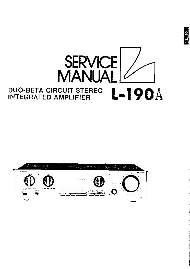 LUXMAN M-05 Service Manual free download, schematics