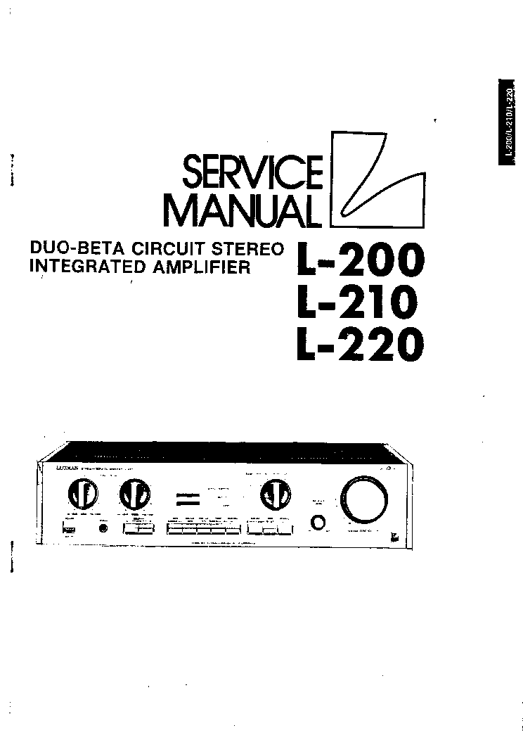 LUXMAN L-200 210 220 SM Service Manual download