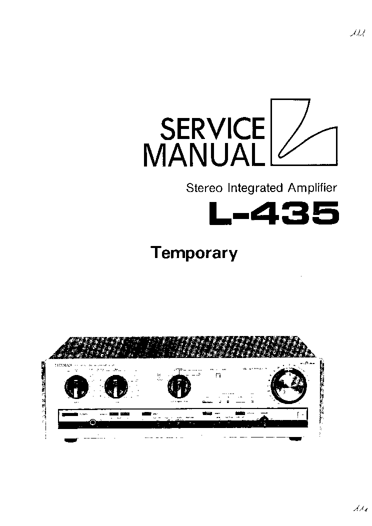 LUXMAN L-435 SM Service Manual download, schematics