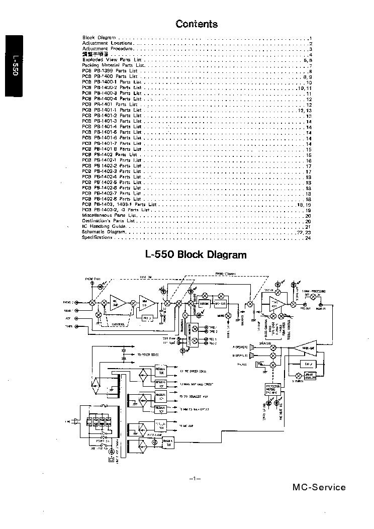 LUXMAN L-550 SM Service Manual download, schematics