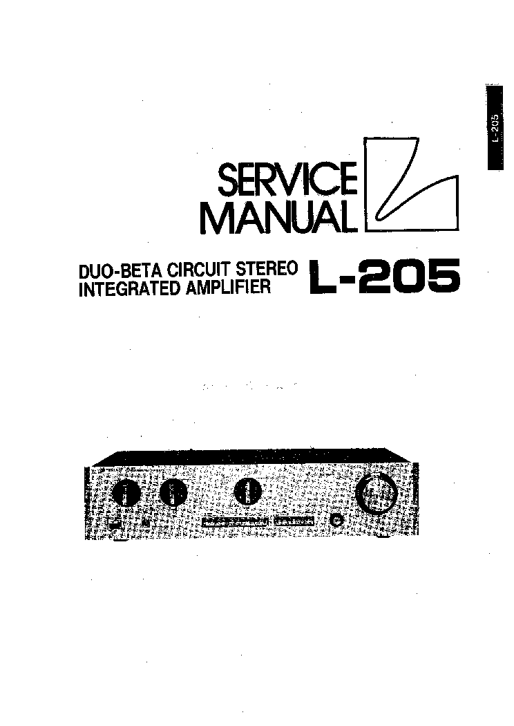 LUXMAN L205 SM Service Manual download, schematics, eeprom