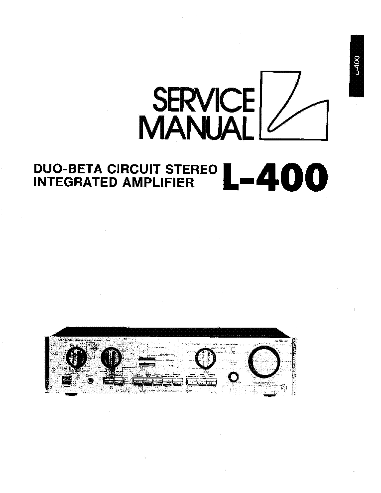 LUXMAN L400 SM Service Manual download, schematics, eeprom
