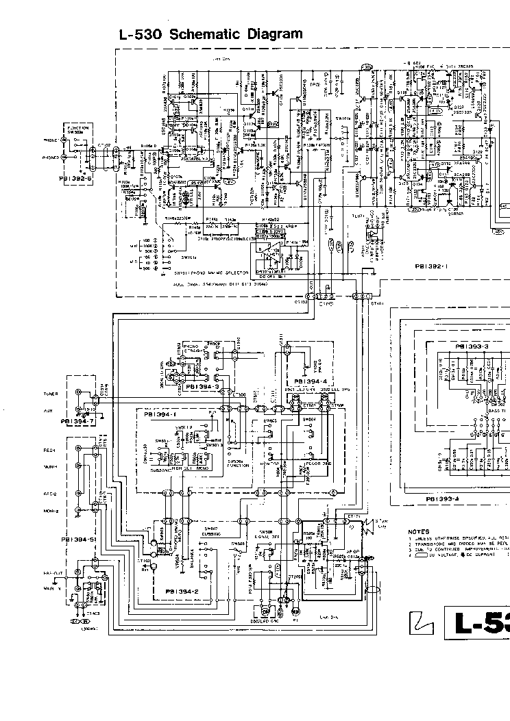 LUXMAN L 530 Service Manual download, schematics, eeprom