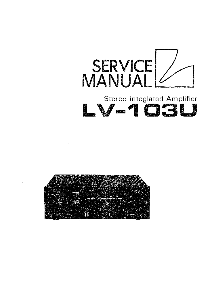 LUXMAN LV112 SM Service Manual download, schematics