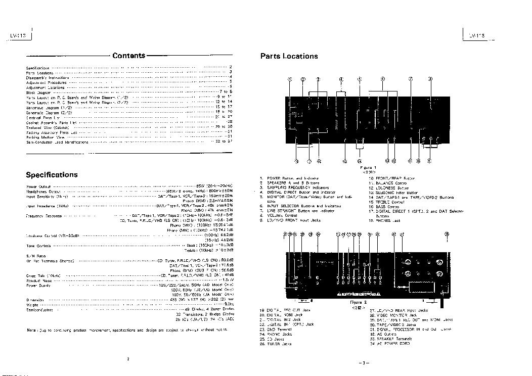 LUXMAN LV113 SM Service Manual download, schematics