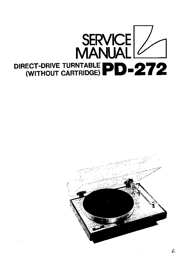 LUXMAN PD-272 SM Service Manual download, schematics
