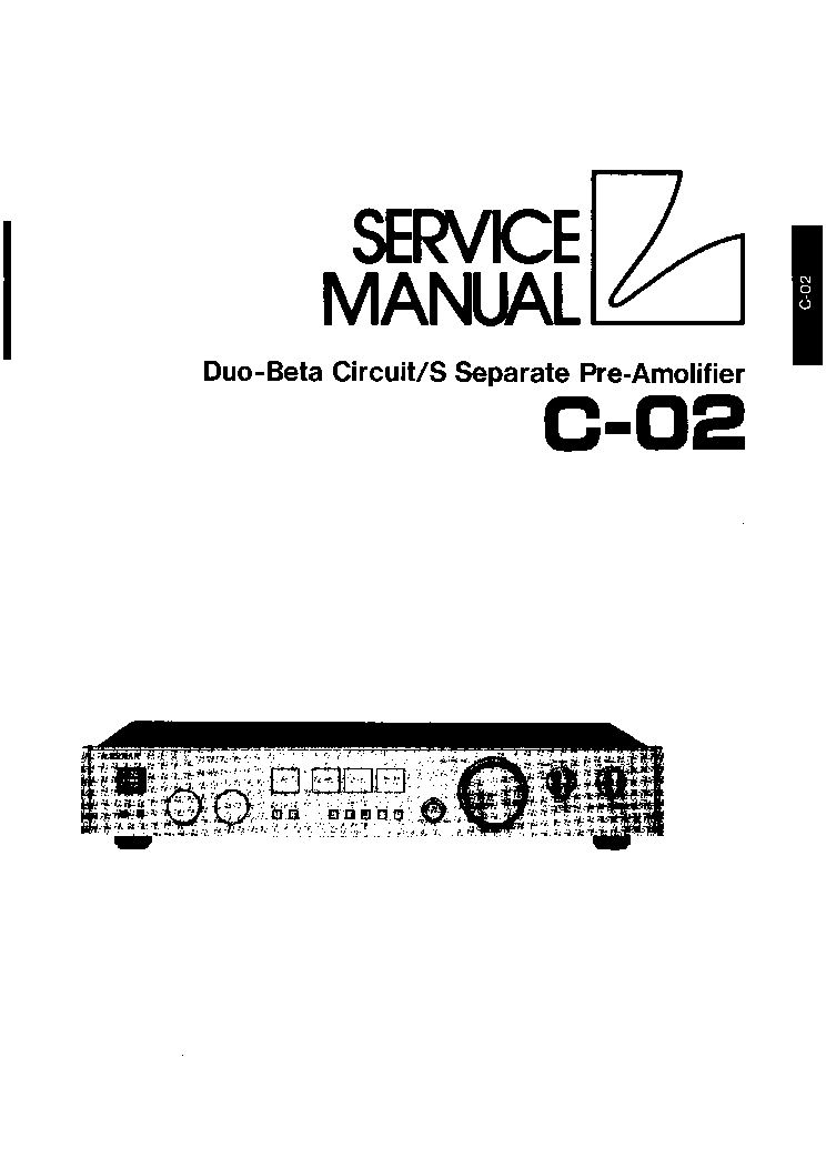 LUXMAN PRE C-02 SM Service Manual download, schematics